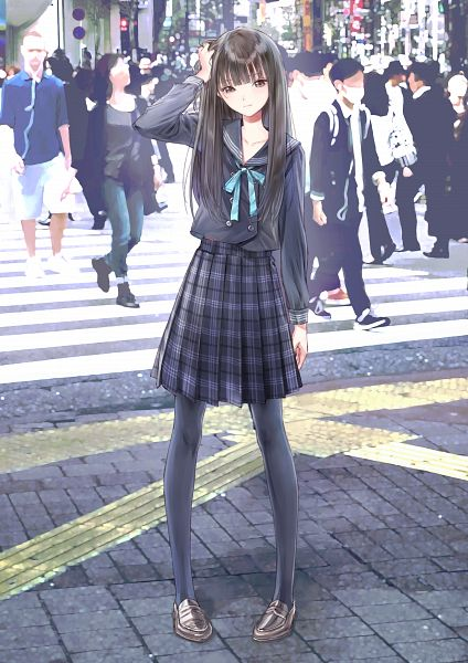 Tags: Anime, Kishida Mel, Gust, Blue Reflection, Saiki Yuri, Official Art, Mobile Wallpaper, Scan, Cover Image
