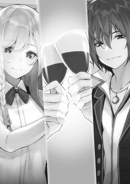 Tags: Anime, Yuunagi (Seventh Heaven), Saikyou Degarashi Ouji No An'Yaku Teii Arasoi, Elna Von Amsberg, Arnold Lakes Adler, Official Art, Novel Illustration