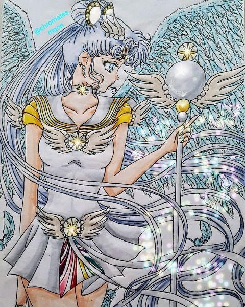 Tags: Anime, Chromates, Bishoujo Senshi Sailor Moon, Sailor Cosmos, Traditional Media