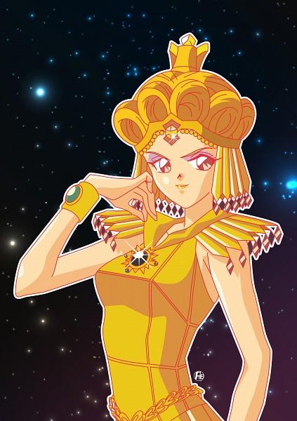 Tags: Anime, Riccardo Bacci, Bishoujo Senshi Sailor Moon, Sailor Galaxia, Sailor Moon (Character), Tsukino Usagi, Galactica Bracelets, Saffer Crystal, Fanart, Mobile Wallpaper