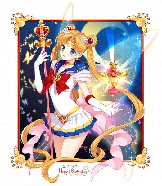 Tags: Anime, Nardack, Bishoujo Senshi Sailor Moon, Sailor Moon (Character), Tsukino Usagi, Cosmic Heart Compact, Holy Grail (Sailor Moon), Spiral Heart Moon Rod, Pixiv, Fanart, Fanart From Pixiv