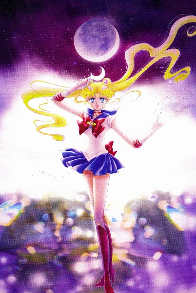 Tags: Anime, Takeuchi Naoko, Bishoujo Senshi Sailor Moon, Tsukino Usagi, Sailor Moon (Character), Henshin Brooch, Moon Stick, Manga Cover, Scan, Official Art