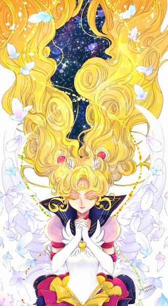Tags: Anime, Pixiv Id 3111494, Bishoujo Senshi Sailor Moon, Sailor Moon (Character), Tsukino Usagi, Faux Wings, Eternal Moon Article, Fanart From Pixiv, Fanart, Mobile Wallpaper, Pixiv