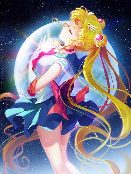 Tags: Anime, Moai (Aoh), Bishoujo Senshi Sailor Moon, Sailor Moon (Character), Tsukino Usagi, Fanart, Pixiv, Mobile Wallpaper, Fanart From Pixiv