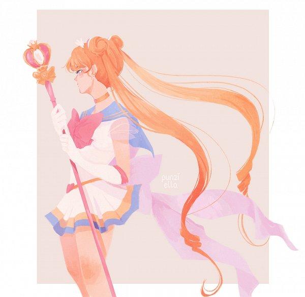 Tags: Anime, Muttonfudge, Bishoujo Senshi Sailor Moon, Sailor Moon (Character), Tsukino Usagi, Spiral Heart Moon Rod, Fanart