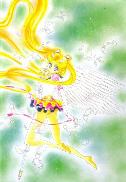 Tags: Anime, Takeuchi Naoko, Bishoujo Senshi Sailor Moon, Tsukino Usagi, Sailor Moon (Character), Scepter, Eternal Tiare, Self Scanned, Official Art