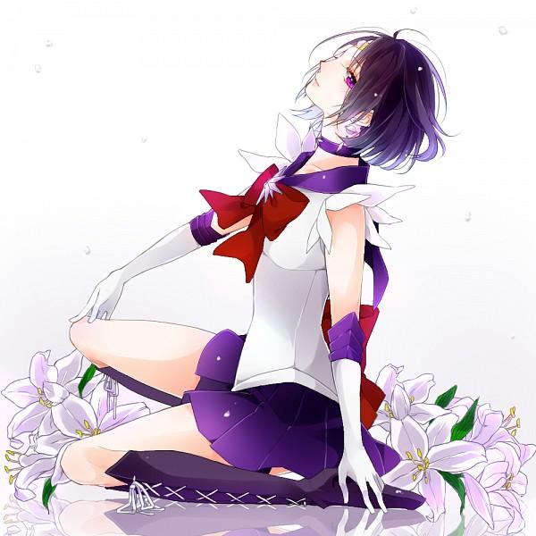 Tags: Anime, Pixiv Id 4495752, Bishoujo Senshi Sailor Moon, Sailor Saturn, Tomoe Hotaru, White Lily, Pixiv, Fanart From Pixiv, Fanart, PNG Conversion