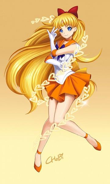 Tags: Anime, Pixiv Id 6783892, Bishoujo Senshi Sailor Moon, Sailor Venus, Aino Minako, Orange Skirt, Venus Love Me Chain, Orange Footwear, Mobile Wallpaper, Fanart, Fanart From Pixiv, Pixiv