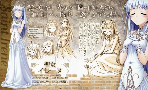 Tags: Anime, Bekkankou, August (Studio), Aiyoku no Eustia, Saint Irene, Official Art, Wallpaper