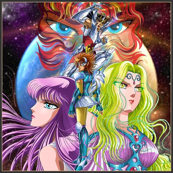 Tags: Anime, Toei Animation, Saint Seiya, Apollo (Saint Seiya ), Athena Saori, Pegasus Seiya, Artemis (Saint Seiya), Bronze Saints