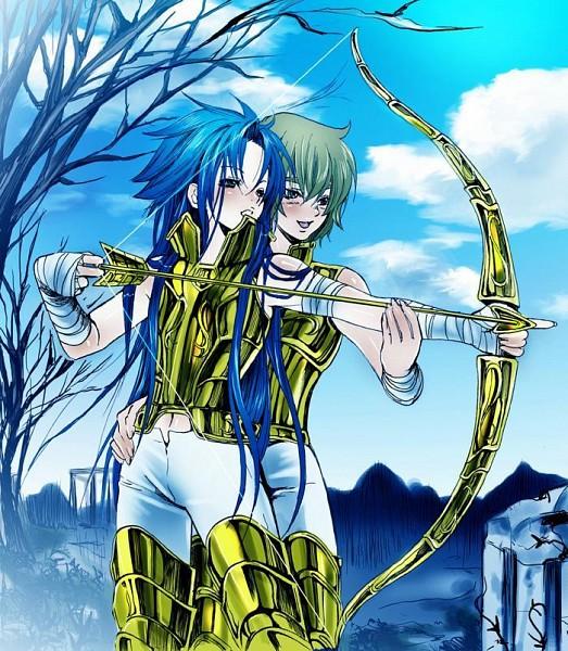 Tags: Anime, Saint Seiya, Gemini Saga, Sagitarius Aioros, Gold Saints