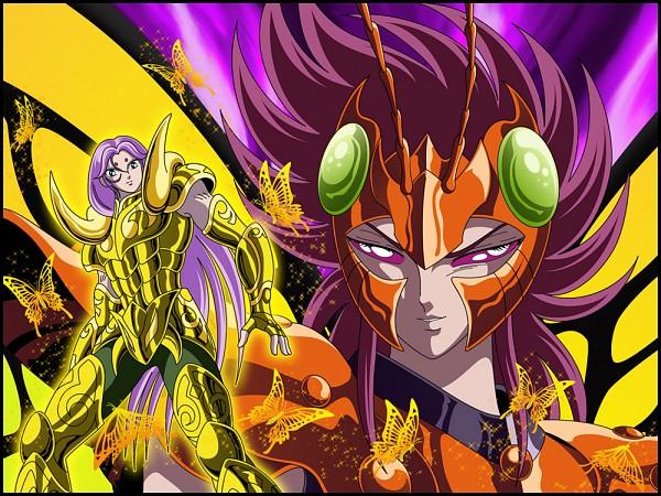 Tags: Anime, Aries Mu, Papillion Myu, Gold Saints