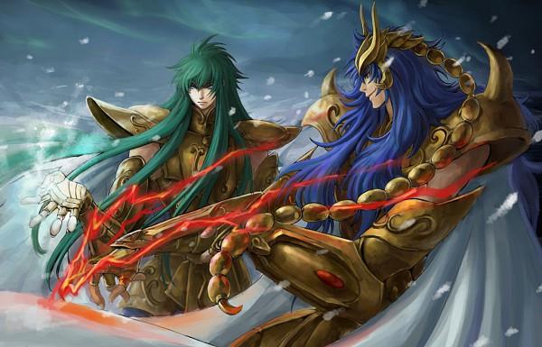 Tags: Anime, Saint Seiya Lost Canvas, Saint Seiya, Scorpio Kardia, Aquarius Degel, Gold Saints -the Lost Canvas