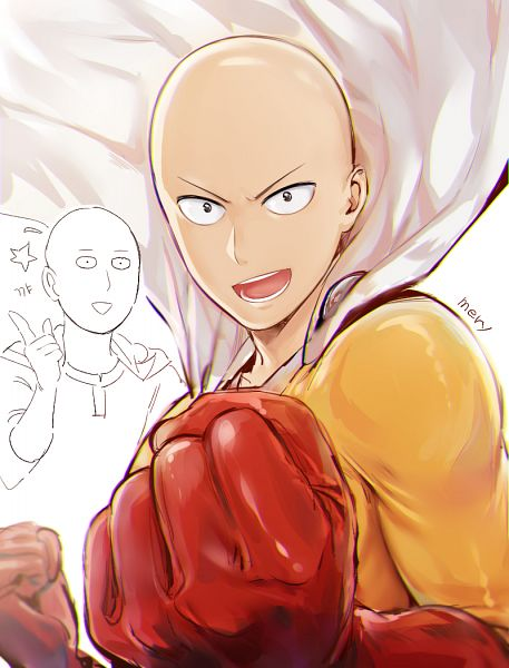 Tags: Anime, mery (dpqpqp550), One Punch Man, Saitama (One Punch Man), Red Armwear, PNG Conversion, Pixiv, Fanart, Fanart From Pixiv