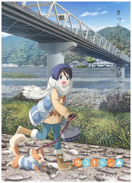 Tags: Anime, Sasaki Mutsumi (Bee Train), C-Station, Yuru Camp, Saitou Ena, Chihuahua, Official Art