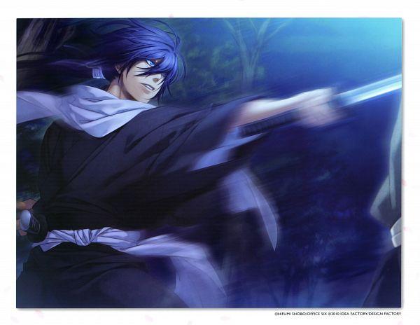 Tags: Anime, Kazuki Yone, IDEA FACTORY, Hakuouki Shinsengumi Kitan, Saitou Hajime (Hakuouki), Scan, CG Art, Official Art