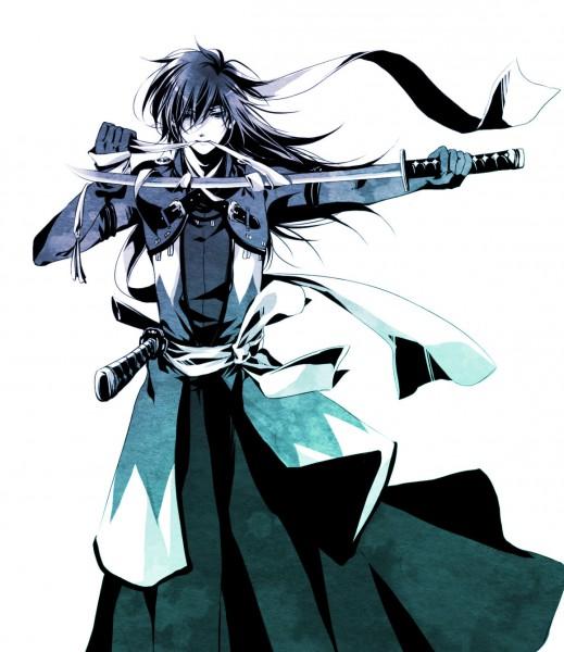 Tags: Anime, Aoi Shizuka, Hakuouki Shinsengumi Kitan, Saitou Hajime (Hakuouki), Pixiv, Fanart