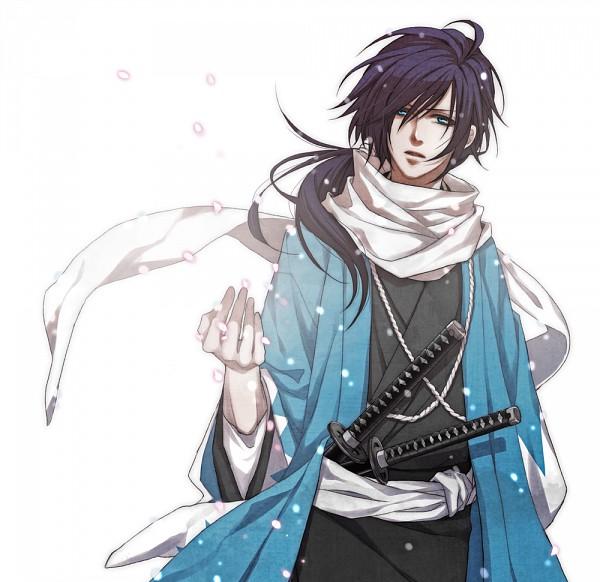 Tags: Anime, Hatoya, Hakuouki Shinsengumi Kitan, Saitou Hajime (Hakuouki), Spring, Fanart, Pixiv
