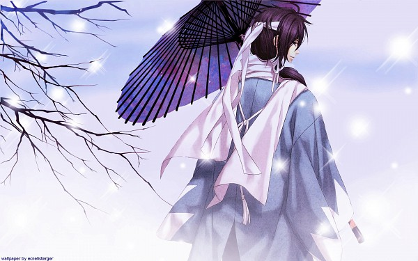 Tags: Anime, Kazuki Yone, IDEA FACTORY, Hakuouki Shinsengumi Kitan, Saitou Hajime (Hakuouki), Wallpaper
