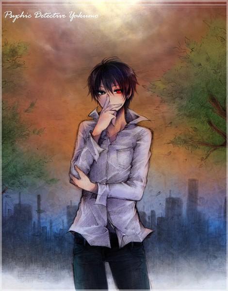 Tags: Anime, Itsuya (Pixiv723929), Shinrei Tantei Yakumo, Saitou Yakumo, Pixiv, Fanart