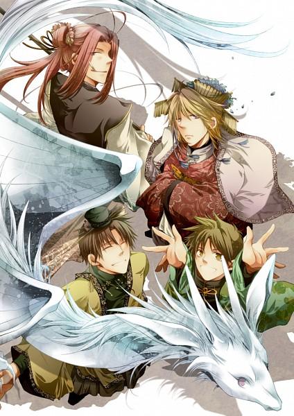 Tags: Anime, Asamidiot, Saiyuki, Sha Gojyo, Hakuryûu (Saiyuki), Genjyo Sanzo, Son Goku (Saiyuki), Cho Hakkai, Mobile Wallpaper