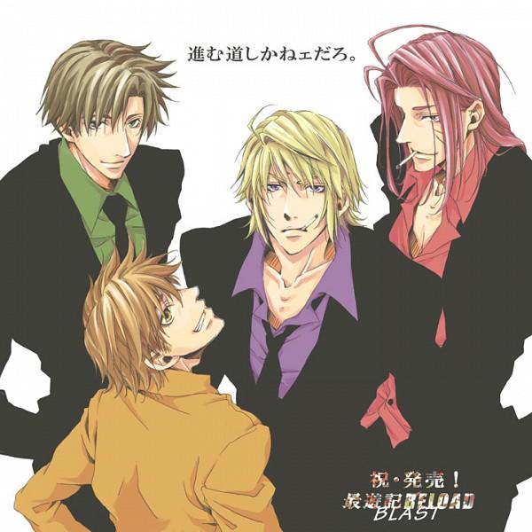 Tags: Anime, Pixiv Id 3429611, Saiyuki, Sha Gojyo, Genjyo Sanzo, Son Goku (Saiyuki), Cho Hakkai, Pixiv
