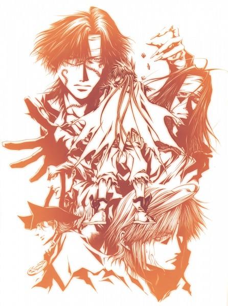 Tags: Anime, Saiyuki, Genjyo Sanzo, Son Goku (Saiyuki), Cho Hakkai, Sha Gojyo, Hazel Grouse
