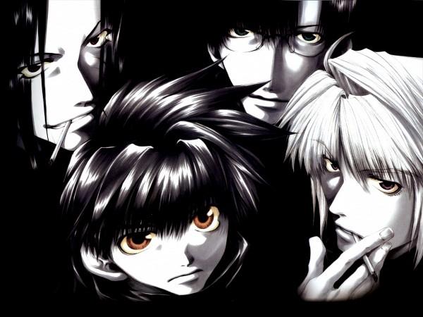 Tags: Anime, Minekura Kazuya, Saiyuki, Cho Hakkai, Sha Gojyo, Genjyo Sanzo, Son Goku (Saiyuki), Wallpaper