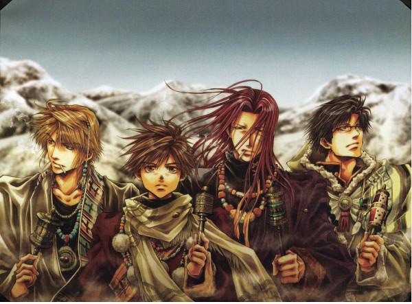 Tags: Anime, Minekura Kazuya, Saiyuki, Son Goku (Saiyuki), Cho Hakkai, Sha Gojyo, Genjyo Sanzo
