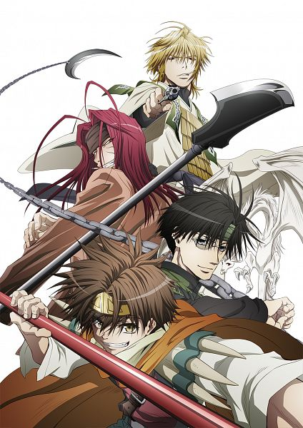 Tags: Anime, Satou Youko, Platinum Vision, Saiyuki, Cho Hakkai, Sha Gojyo, Hakuryûu (Saiyuki), Genjyo Sanzo, Son Goku (Saiyuki), Official Art, Key Visual