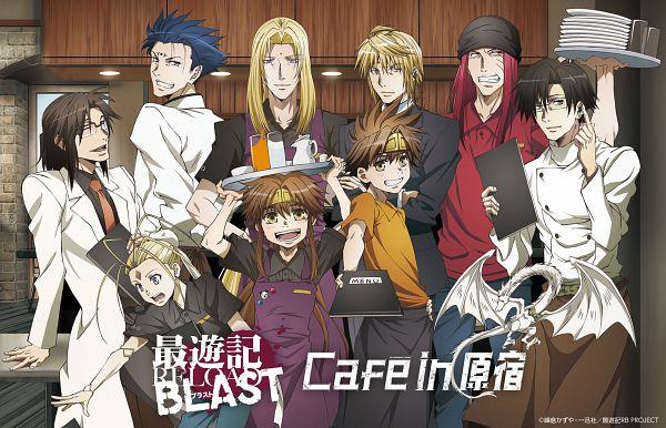 Tags: Anime, Saiyuki Gaiden, Saiyuki, Kenren Taishou, Genjyo Sanzo, Konzen Douji, Son Goku (Saiyuki), Nataku (Saiyuki), Tenpou Gensui, Cho Hakkai, Hakuryûu (Saiyuki), Sha Gojyo, Crowd