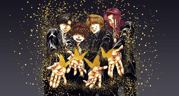 Tags: Anime, Kazuya Minekura, Saiyuki, Genjyo Sanzo, Son Goku (Saiyuki), Cho Hakkai, Sha Gojyo, Official Art
