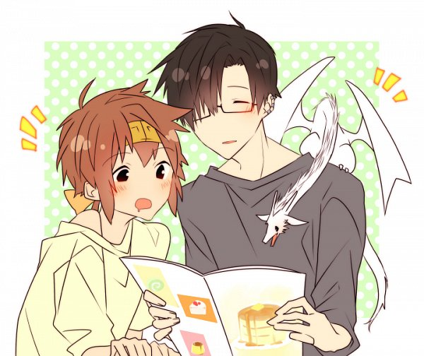 Tags: Anime, Pixiv Id 58195450, Saiyuki, Cho Hakkai, Hakuryûu (Saiyuki), Son Goku (Saiyuki), Fanart From Pixiv, Fanart, Pixiv