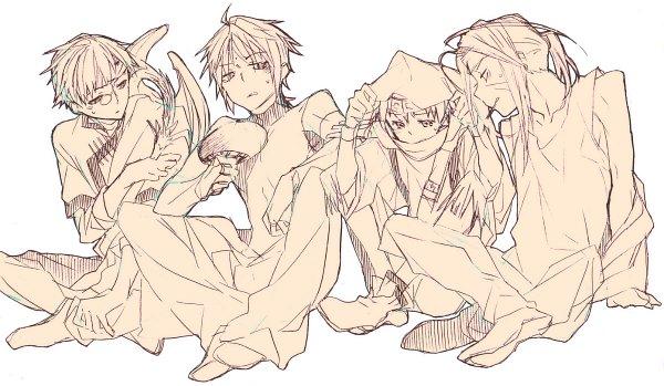 Tags: Anime, Pixiv Id 58195450, Saiyuki, Genjyo Sanzo, Son Goku (Saiyuki), Cho Hakkai, Hakuryûu (Saiyuki), Sha Gojyo, Pixiv, Fanart, Fanart From Pixiv