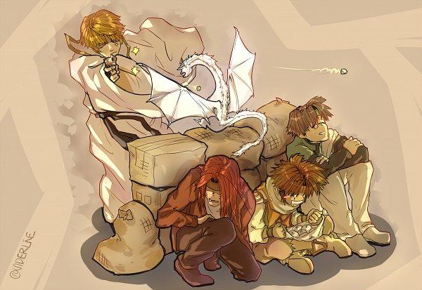 Tags: Anime, Pixiv Id 1672401, Saiyuki, Genjyo Sanzo, Son Goku (Saiyuki), Cho Hakkai, Sha Gojyo, Hakuryûu (Saiyuki)