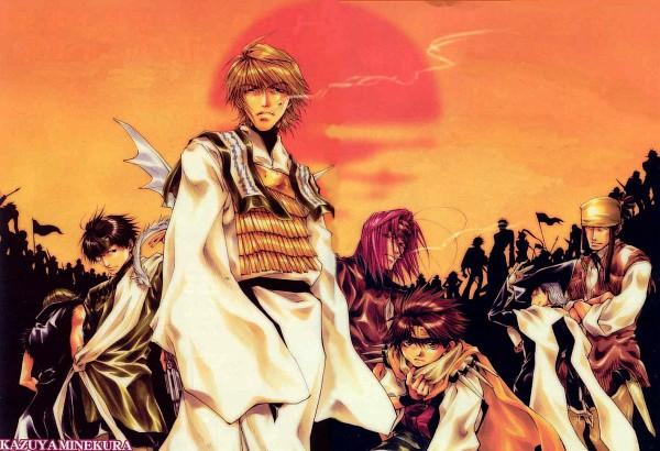 Tags: Anime, Minekura Kazuya, Saiyuki, Genjyo Sanzo, Zakuro (Saiyuki), Son Goku (Saiyuki), Gat (Saiyuki), Sha Gojyo, Hazel Grouse