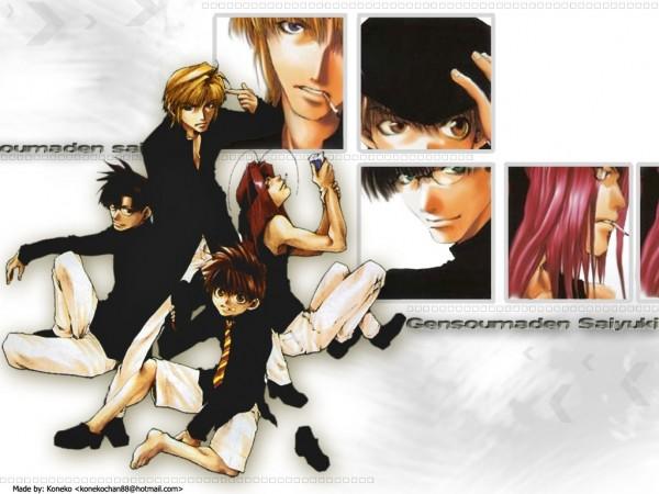 Tags: Anime, Saiyuki, Genjyo Sanzo, Son Goku (Saiyuki), Cho Hakkai, Sha Gojyo, Wallpaper