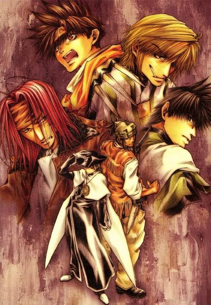 Tags: Anime, Saiyuki, Hazel Grouse, Genjyo Sanzo, Son Goku (Saiyuki), Cho Hakkai, Gat (Saiyuki), Sha Gojyo