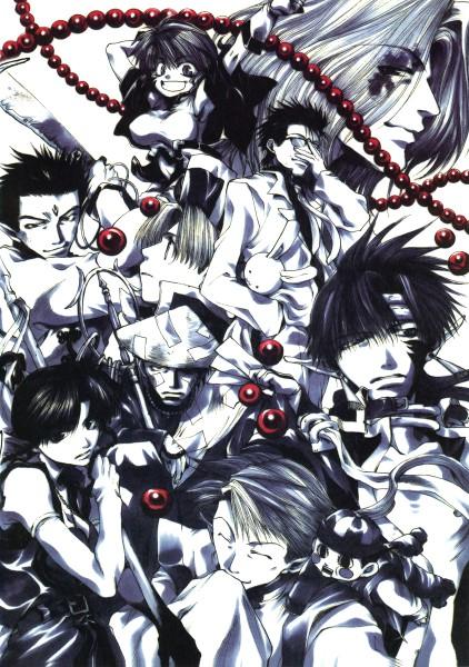 Tags: Anime, Minekura Kazuya, Saiyuki, Ni Jianyi, Ririn, Yaone, Lirin (saiyuki), Dokugakuji, Kami-sama (Saiyuki), Kougaji (Saiyuki), Chin Yisou