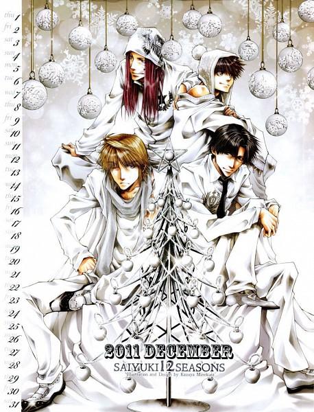 Tags: Anime, Saiyuki, Sha Gojyo, Genjyo Sanzo, Son Goku (Saiyuki), Cho Hakkai, Calendar (Source)