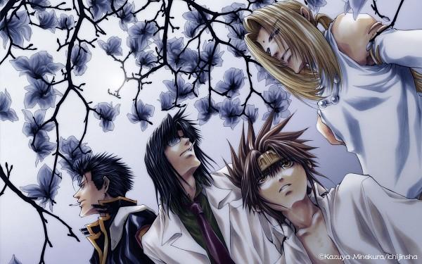 Tags: Anime, Saiyuki Gaiden, Saiyuki, Son Goku (Saiyuki), Kenren Taishou, Konzen Douji, Tenpou Gensui, Wallpaper