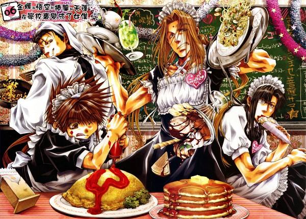 Tags: Anime, Saiyuki Gaiden, Saiyuki, Tenpou Gensui, Kenren Taishou, Son Goku (Saiyuki), Konzen Douji, Pancakes