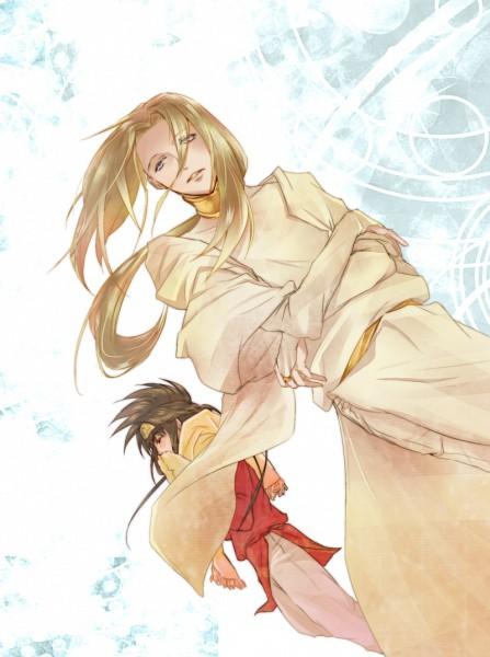 Tags: Anime, Amber (Artist), Saiyuki Gaiden, Saiyuki, Konzen Douji, Son Goku (Saiyuki), Fanart, Pixiv