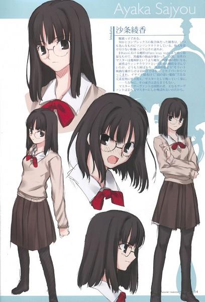 Tags: Anime, Takeuchi Takashi, TYPE-MOON, Fate/Prototype, Sajyou Ayaka, Sketch, Official Art