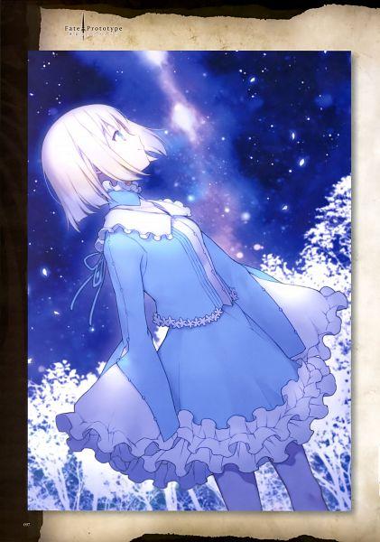 Tags: Anime, Nakahara (Pixiv208060), TYPE-MOON, Fate/Prototype: Sougin no Fragments, Sajyou Manaka, Official Art, Scan, Mobile Wallpaper