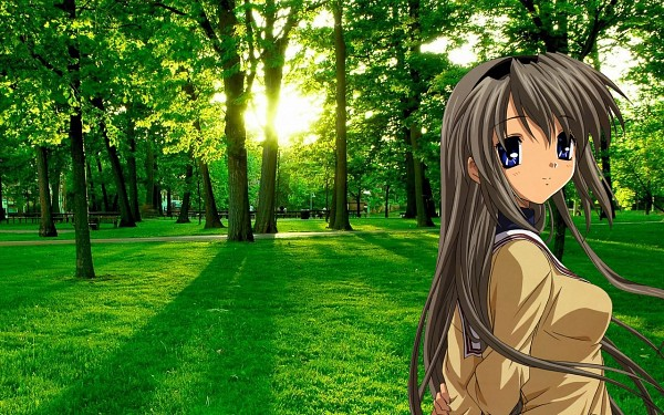 Tags: Anime, CLANNAD, Sakagami Tomoyo, Real World Background, Wallpaper