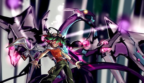 Tags: Anime, Pixiv Id 4681526, Yu-Gi-Oh!, Yu-Gi-Oh! ARC-V, Dark Rebellion Xyz Dragon, Sakaki Yuya, Fanart From Pixiv, Pixiv, Wallpaper, Fanart