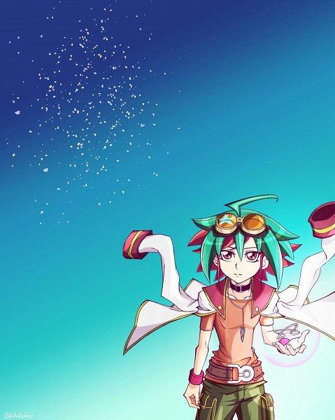 Tags: Anime, Pixiv Id 1481084, Yu-Gi-Oh!, Yu-Gi-Oh! ARC-V, Sakaki Yuya, Fanart, deviantART, Pawoo