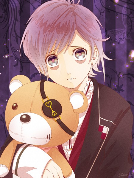 Tags: Anime, Shiroma (Pixiv3880449), Diabolik Lovers ~Haunted dark bridal~, Sakamaki Kanato, Holding Toy, Bags Under Eyes, Fanart From Pixiv, Pixiv, Fanart