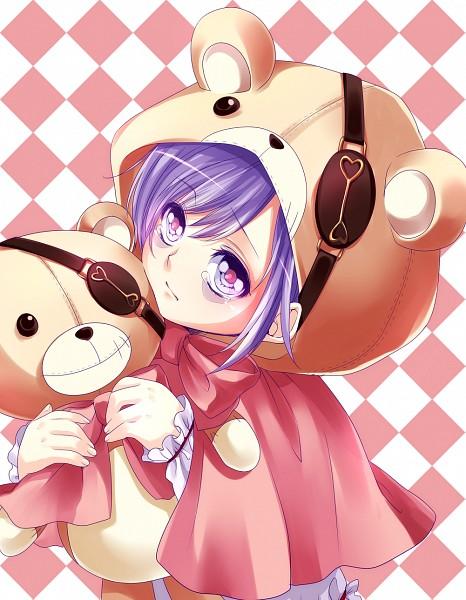 Tags: Anime, Pixiv Id 2335957, Diabolik Lovers ~Haunted dark bridal~, Sakamaki Kanato, Holding Toy, Bags Under Eyes, Bear Costume, Pixiv, Fanart, Fanart From Pixiv, PNG Conversion